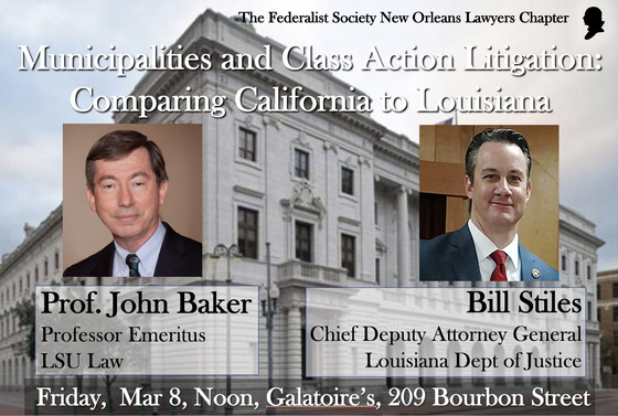 Municipalities and Class Action Litigation: Comparing California to Louisiana