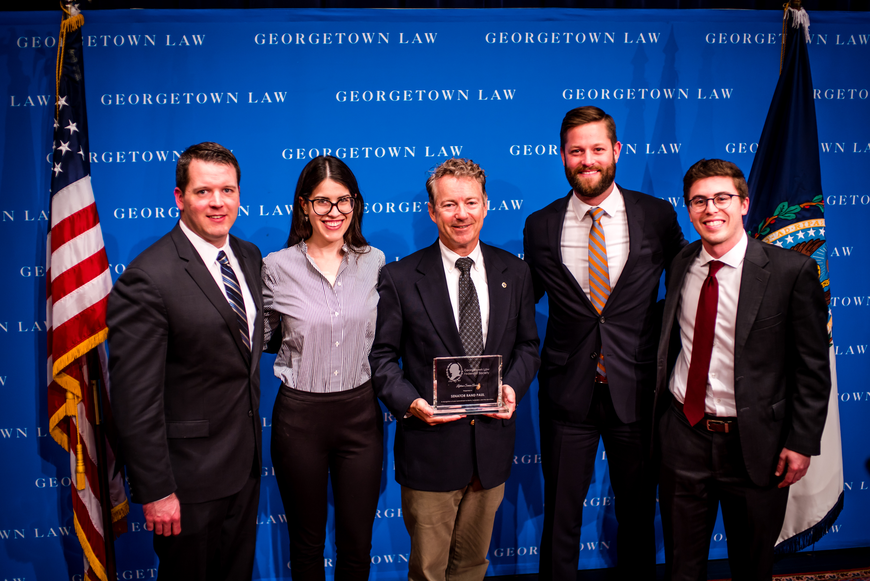 Georgetown Law Federalist Society's Lifetime Service Award Presented to Sen. Rand Paul
