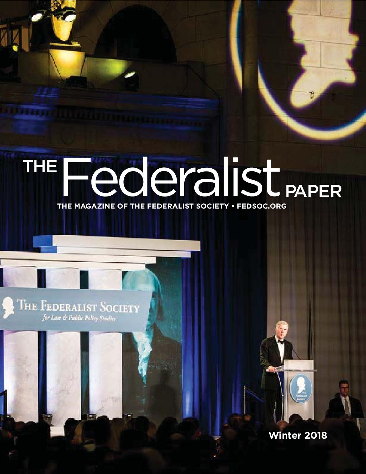 The Federalist Paper, Winter 2018