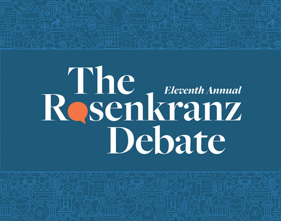 Click to play: Eleventh Annual Rosenkranz Debate & Luncheon