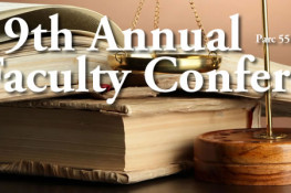 19th Annual Faculty Conference