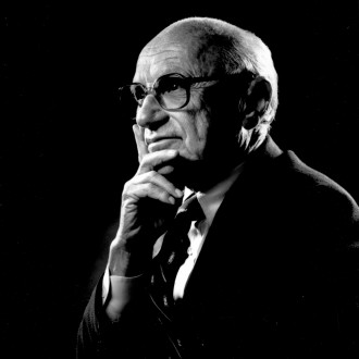 Milton Friedman portrait