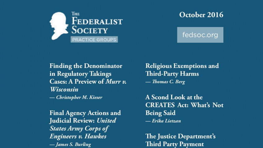 Federalist Society Review, Volume 17, Issue 3