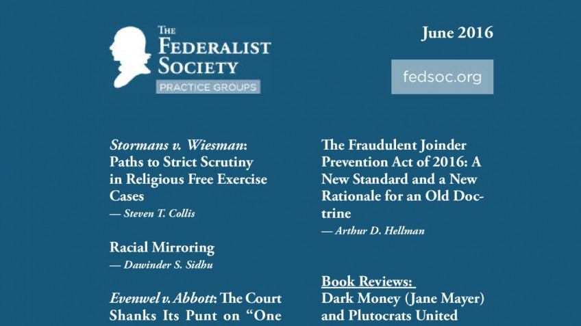 Federalist Society Review, Volume 17, Issue 2