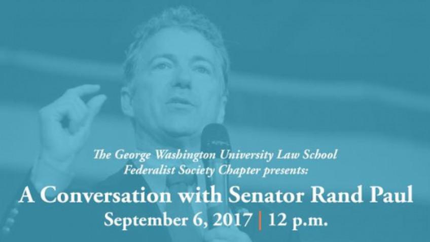 Live Event: A Conversation with Senator Rand Paul