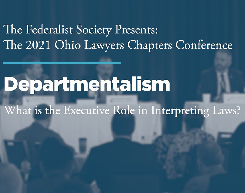 Departmentalism: What is the Executive Role in Interpreting laws?