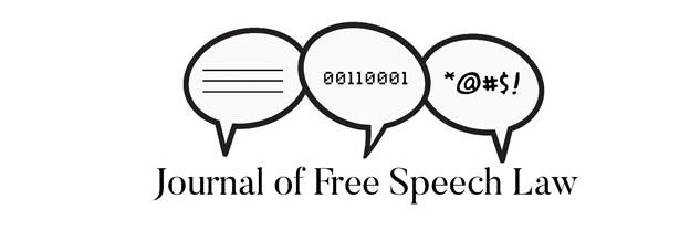 New Law Review of Interest: Journal of Free Speech Law
